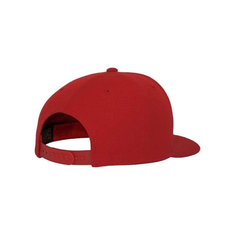 Snapback Cap Classic Rot 6 panneaux, ajustable Seitenansicht hinten