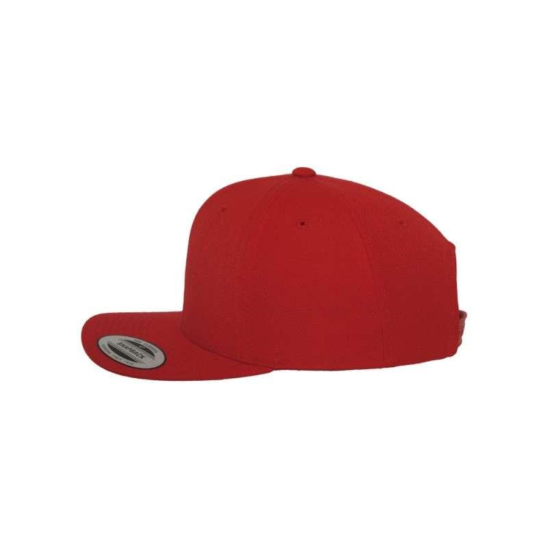 Snapback Cap Classic Rot 6 panneaux, ajustable Seitenansicht links