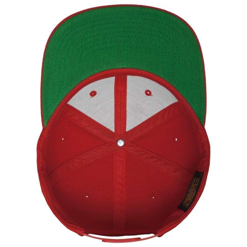 Snapback Cap Classic Rot 6 panneaux, ajustable Ansicht innen