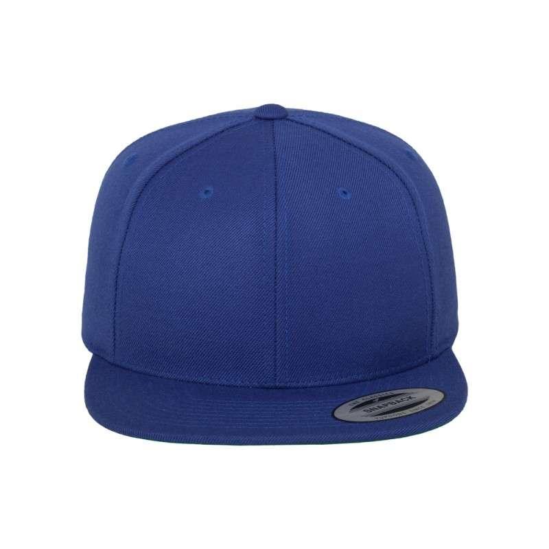 Snapback Cap besticken - Snapback Cap Classic Royalblau 6 PANNEAUX verstellbar vordere Ansicht
