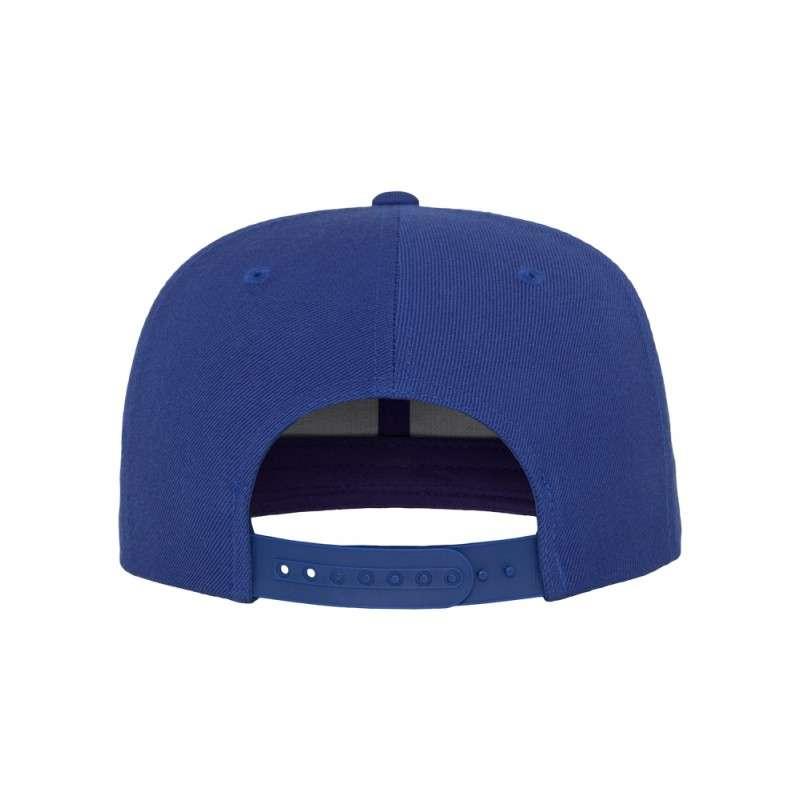 Snapback Cap besticken - Snapback Cap Classic Royalblau 6 PANNEAUX verstellbar hintere Ansicht