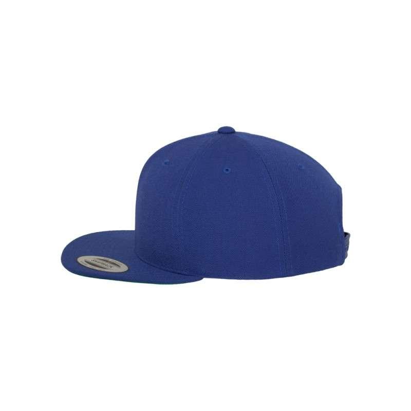 Snapback Cap besticken - Snapback Cap Classic Royalblau 6 PANNEAUX verstellbar linke Ansicht