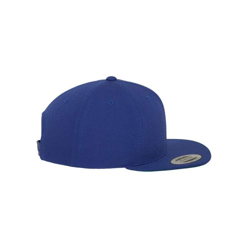 Snapback Cap besticken - Snapback Cap Classic Royalblau 6 PANNEAUX verstellbar rechte Ansicht