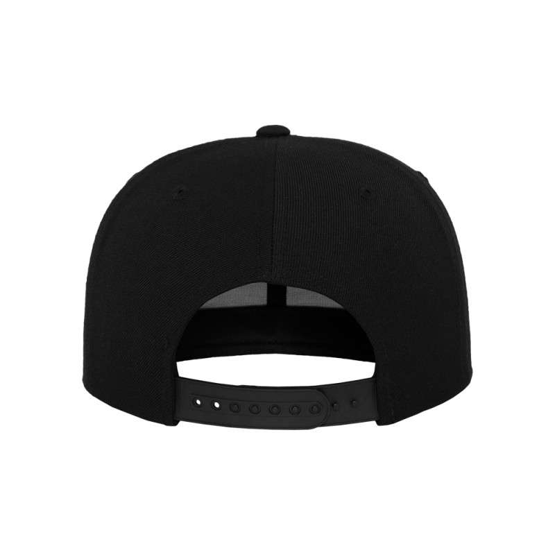 Snapback Cap Classic Schwarz 6 panneaux, ajustable Ansicht hinten