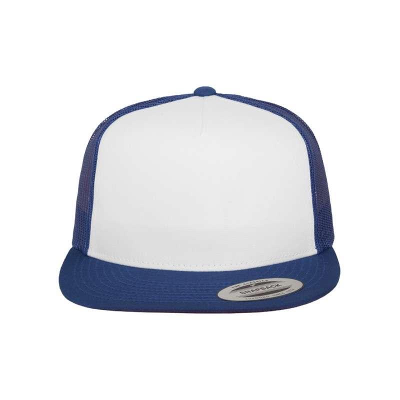 Snapback Cap Classic Trucker Blau, ajustable Ansicht vorne