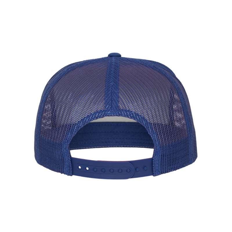 Snapback Cap Classic Trucker Blau, ajustable Ansicht hinten