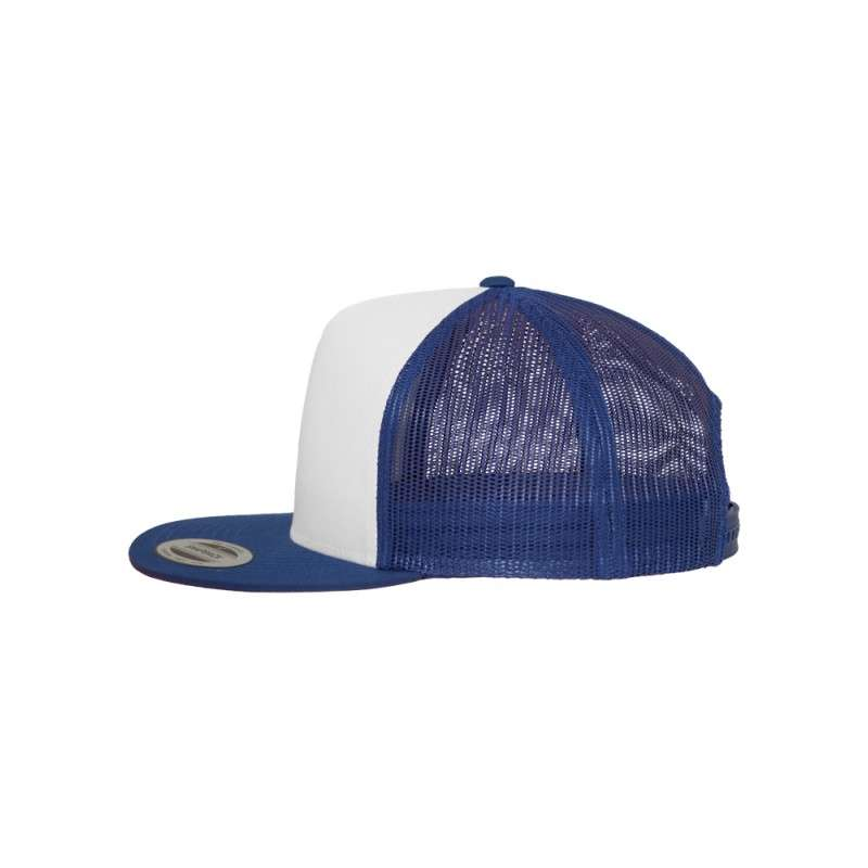 Snapback Cap Classic Trucker Blau, ajustable Seitenansicht links