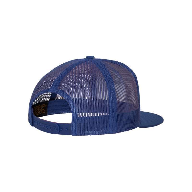 Snapback Cap Classic Trucker Blau, ajustable Seitenansicht hinten
