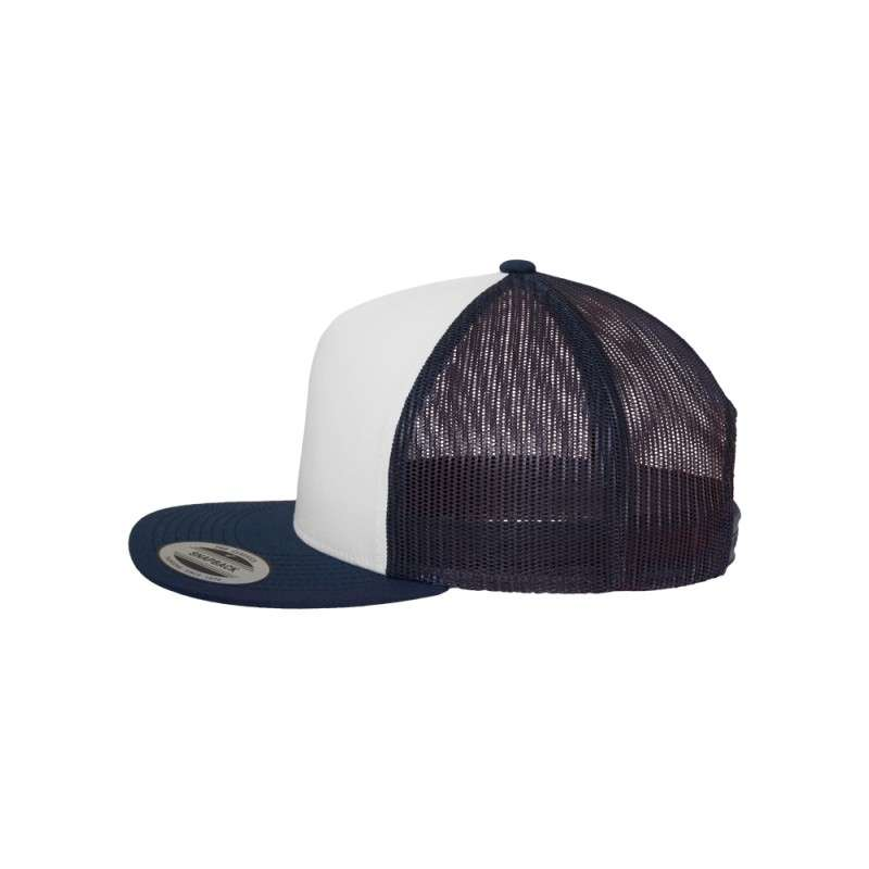 Snapback Cap Classic Trucker dunkelblau- verstellbar Seitenansicht links