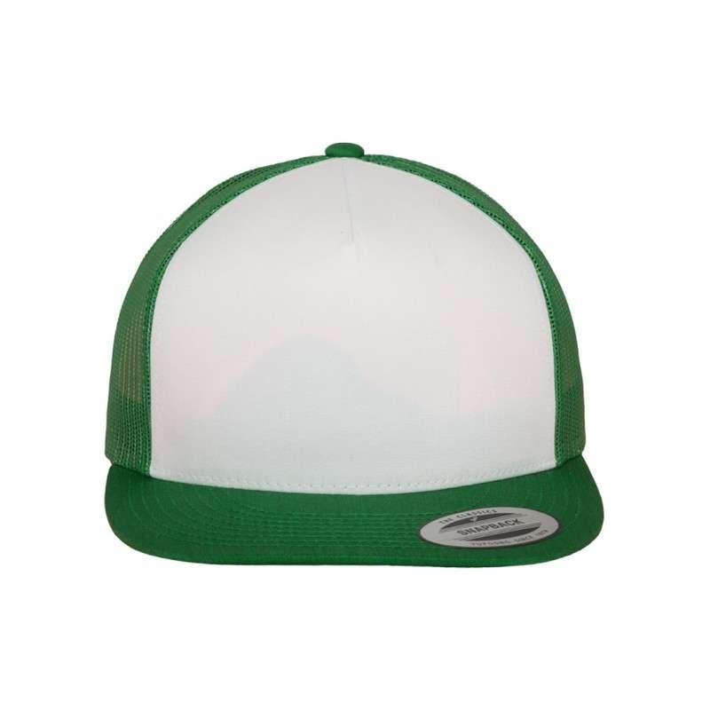 Snapback Cap Classic Trucker grün, ajustable Ansicht vorne
