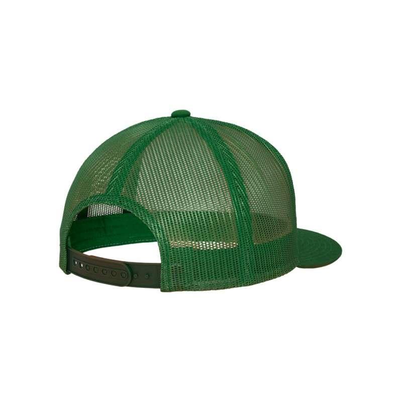 Snapback Cap Classic Trucker grün, ajustable Seitenansicht hinten
