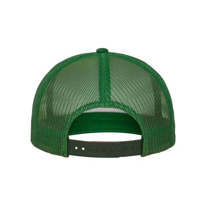 Snapback Cap Classic Trucker grün, ajustable Ansicht hinten
