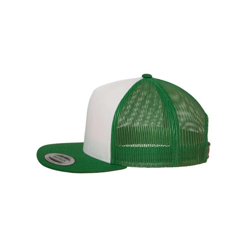Snapback Cap Classic Trucker grün, ajustable Seitenansicht links