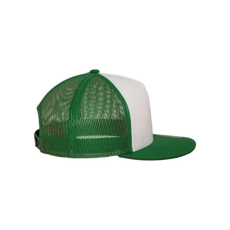 Snapback Cap Classic Trucker grün, ajustable Seitenansicht rechts
