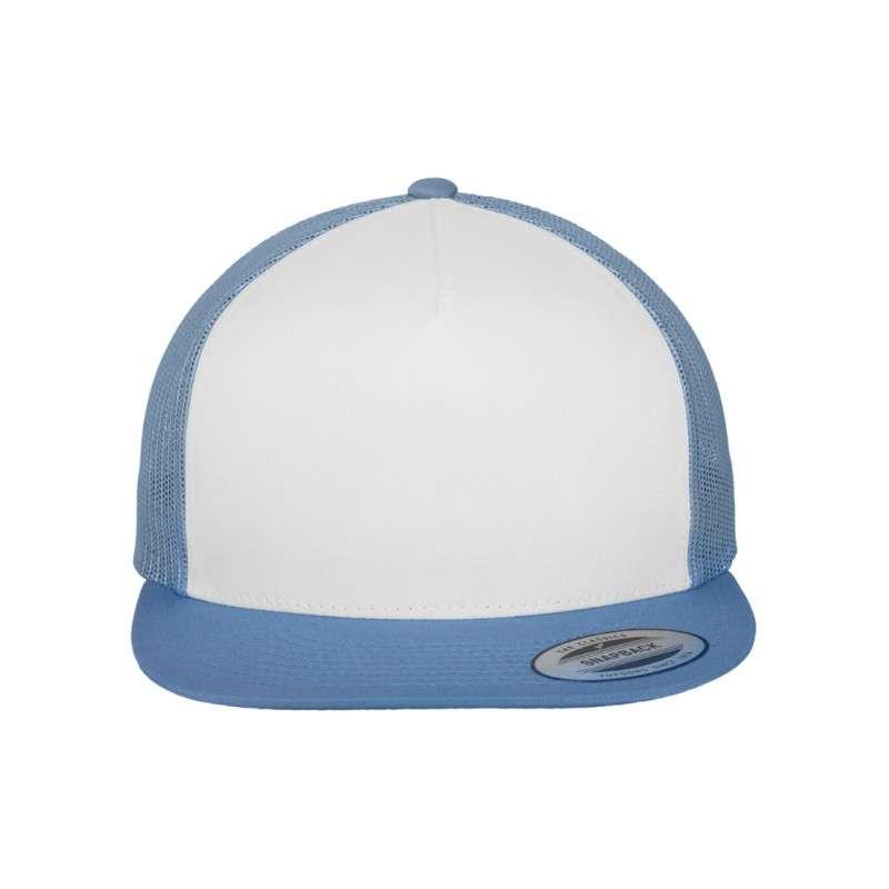 Snapback Cap Classic Trucker hellblau, ajustable Ansicht vorne