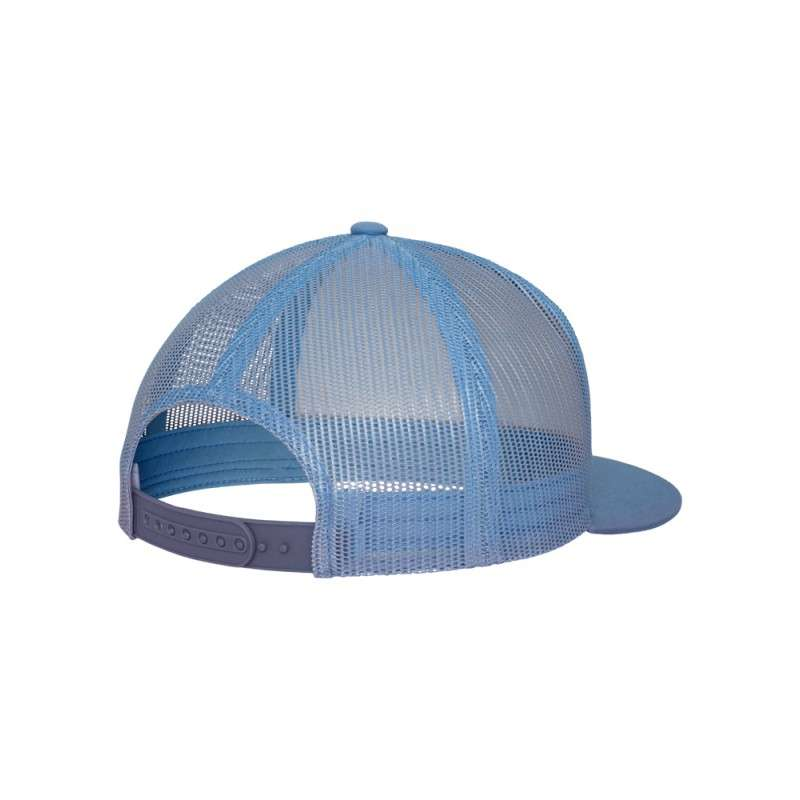 Snapback Cap Classic Trucker hellblau, ajustable Seitenansicht hinten