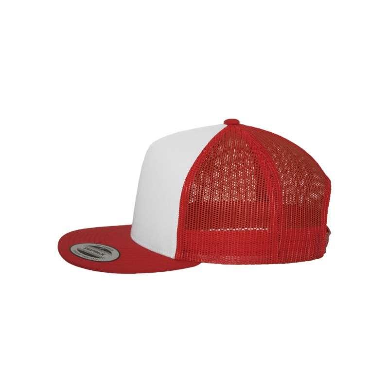 Snapback Cap Classic Trucker Rot- verstellbar Seitenansicht links