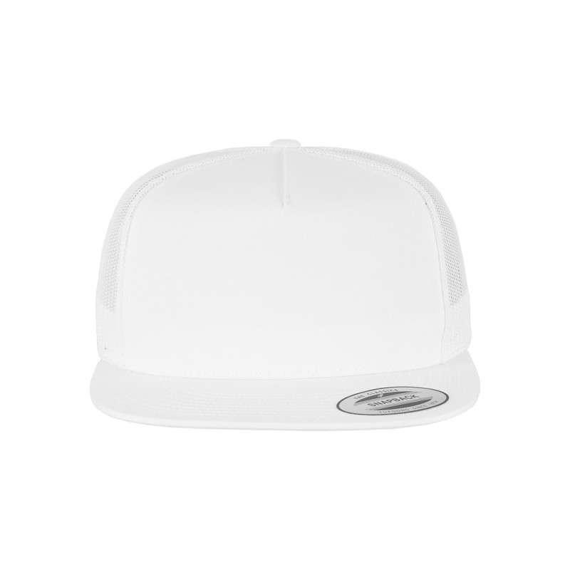 Snapback Cap Classic Trucker Weiß, ajustable Ansicht vorne