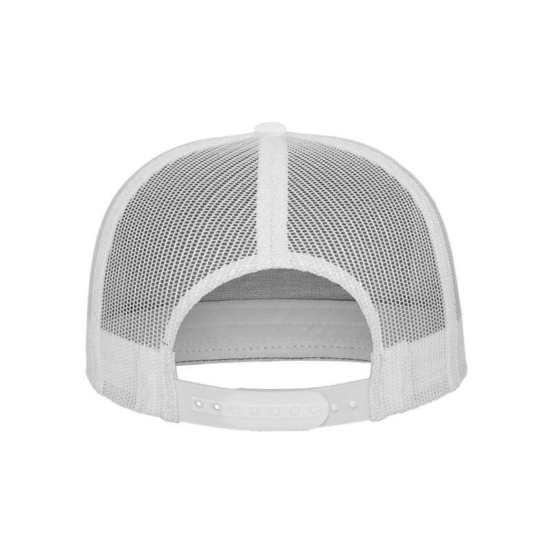 Snapback Cap Classic Trucker Weiß, ajustable Ansicht hinten