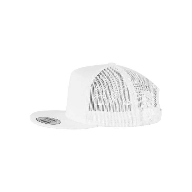 Snapback Cap Classic Trucker Weiß, ajustable Seitenansicht links