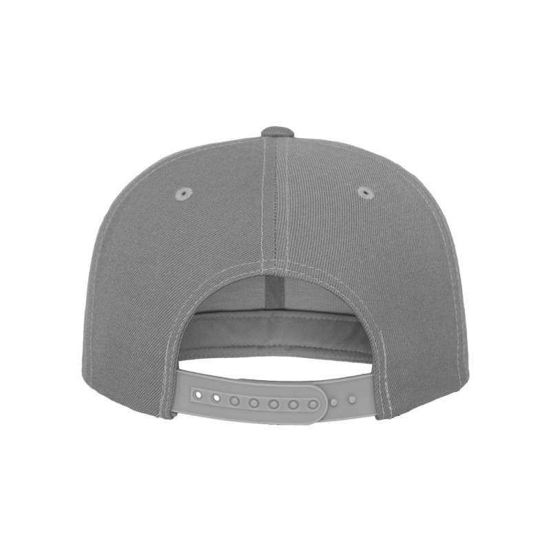 Snapback Cap Classic Silber 6 panneaux, ajustable Ansicht hinten