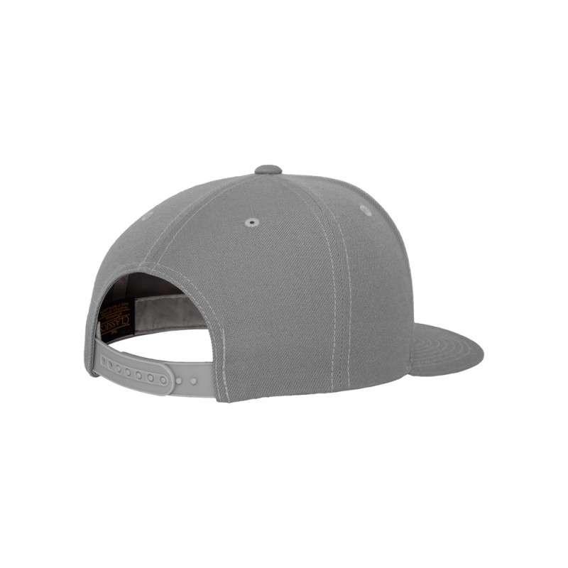 Snapback Cap Classic Silber 6 panneaux, ajustable Seitenansicht hinten
