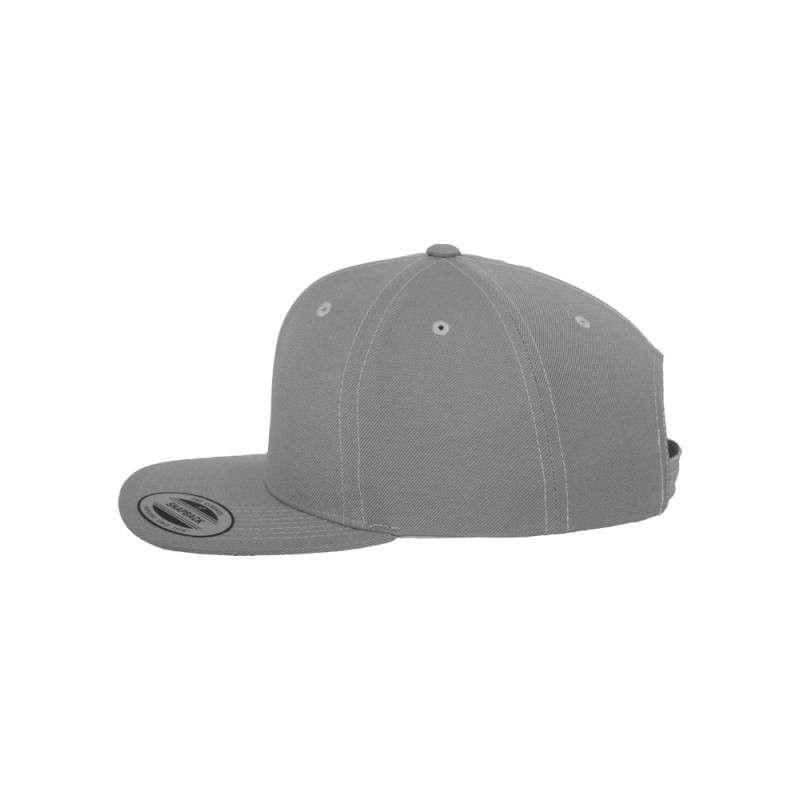 Snapback Cap Classic Silber 6 panneaux, ajustable Seitenansicht links