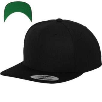 Snapback Cap besticken - Snapback Cap Classic schwarz 6 PANNEAUX verstellbar
