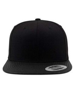 Snapback Cap Perforated Visor Schwarz verstellbar Ansicht vorne