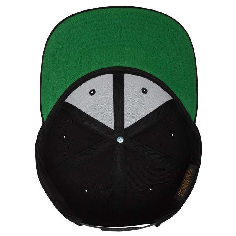 Snapback Cap besticken - Snapback Cap Classic schwarz 6 PANNEAUX verstellbar Unterschild