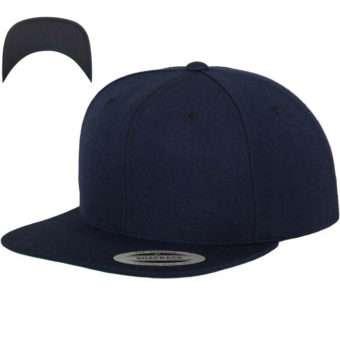 Snapback Cap besticken - Snapback Cap Classic darknavy/darknavy 6 PANNEAUX verstellbar