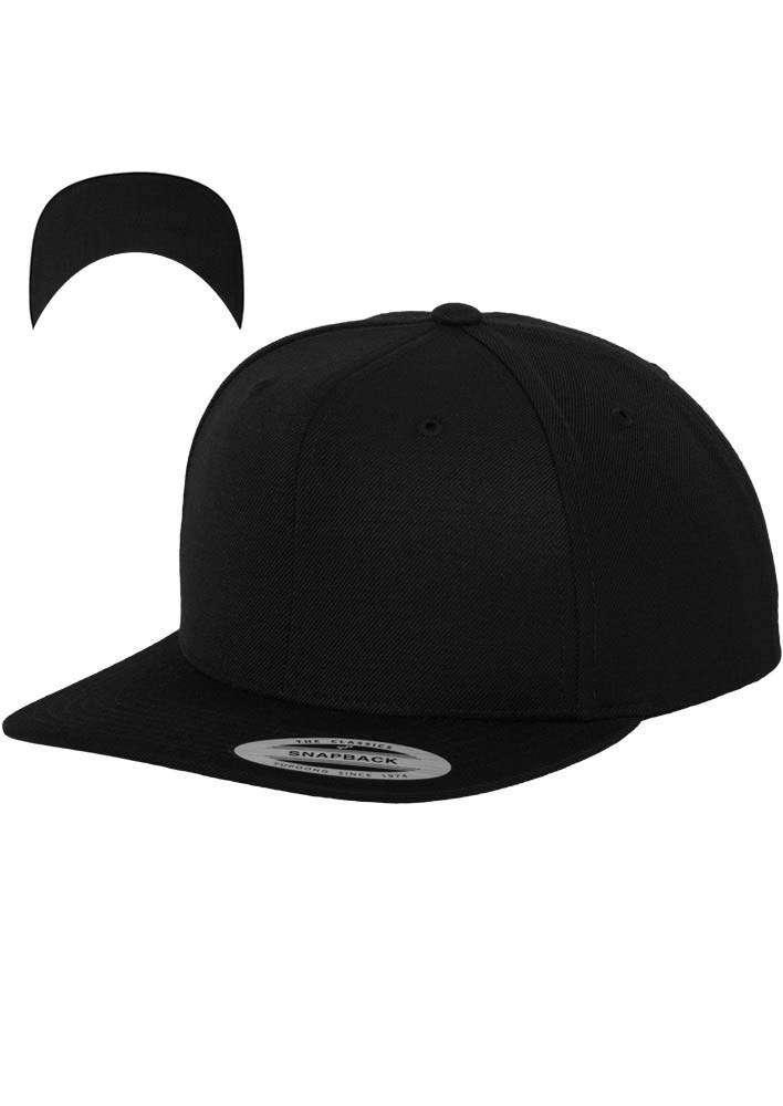 Snapback Cap besticken - Snapback Cap Classic schwarz/schwarz 6 PANNEAUX verstellbar