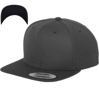 Snapback Cap besticken - Snapback Cap Classic dunkelgrau/dunkelgrau 6 PANNEAUX verstellbar