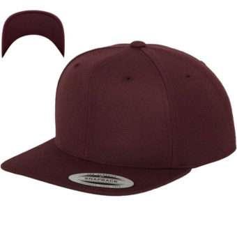 Snapback Cap besticken - Snapback Cap Classic dunkelrot/dunkelrot 6 PANNEAUX verstellbar