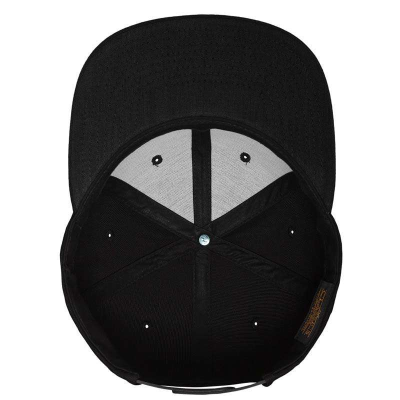 Snapback Cap besticken - Snapback Cap Classic schwarz/schwarz 6 PANNEAUX verstellbar Unterschild
