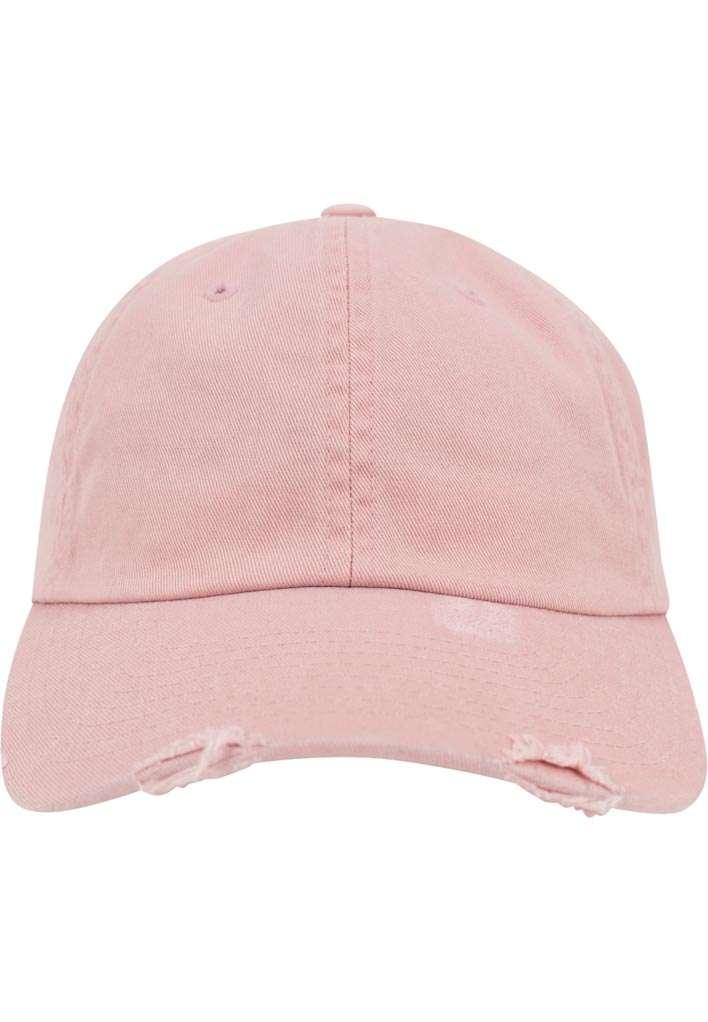 FlexFit Low Profile Destroyed Pink Cap 6 panneaux, ajustable Ansicht vorne