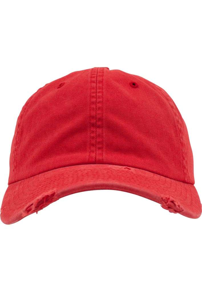 FlexFit Low Profile Destroyed Rot Cap 6 panneaux, ajustable Ansicht vorne