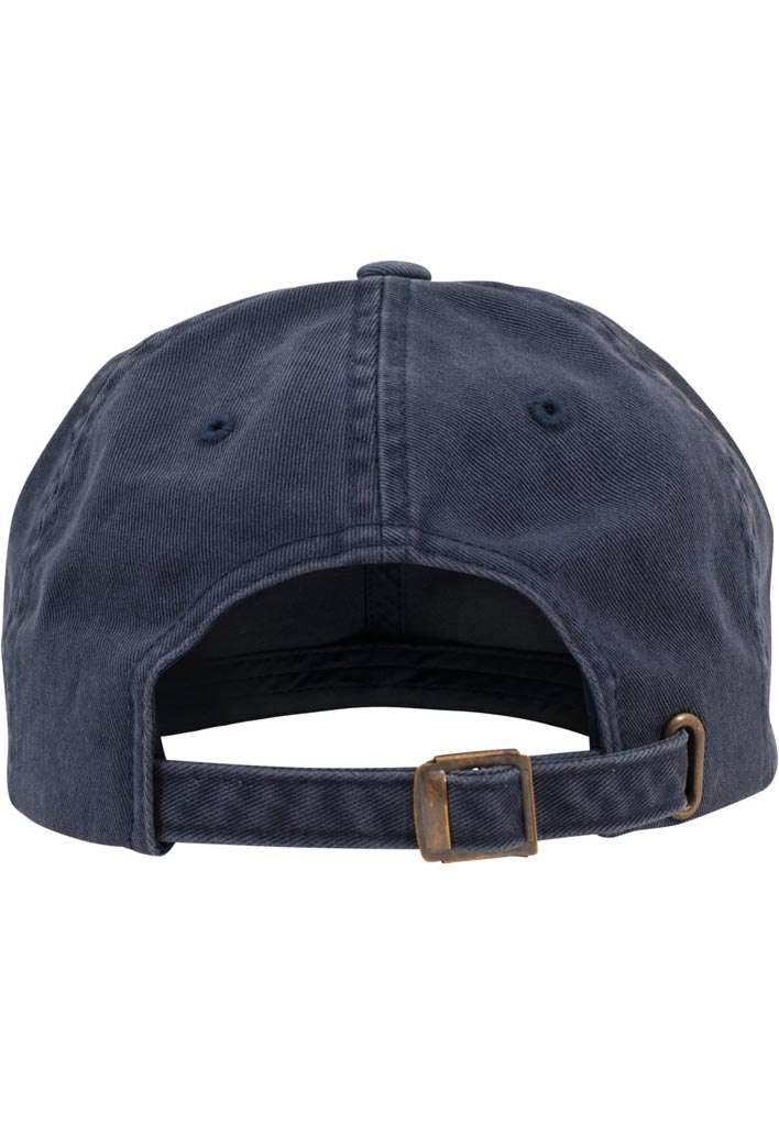 FlexFit Low Profile Destroyed Navy Cap 6 panneaux, ajustable Ansicht hinten