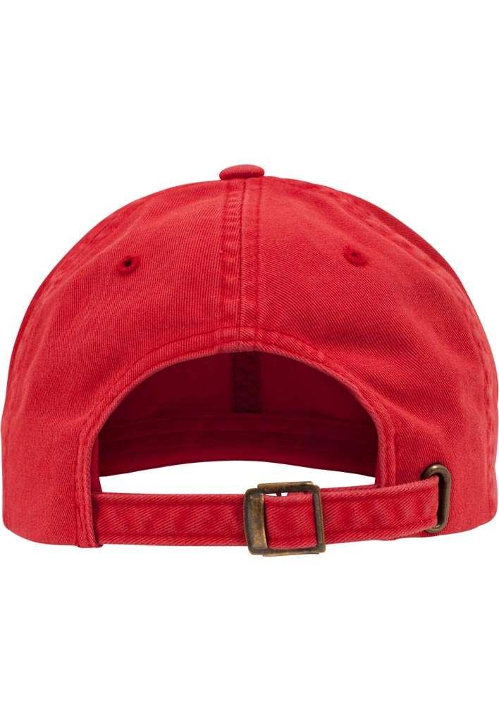 FlexFit Low Profile Destroyed Rot Cap 6 panneaux, ajustable Ansicht hinten