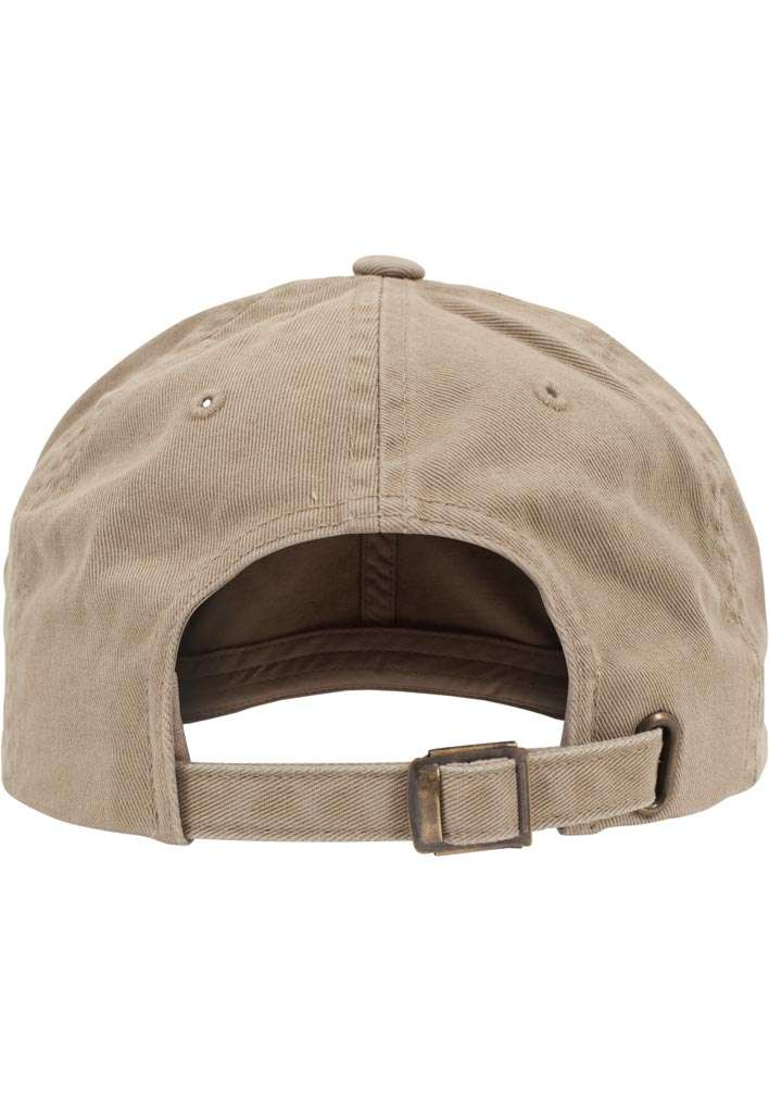 FlexFit Low Profile Destroyed Khaki Cap 6 panneaux, ajustable Ansicht hinten