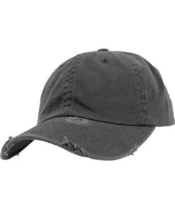 FlexFit Low Profile Destroyed Dunkelgrau Cap 6 panneaux, ajustable