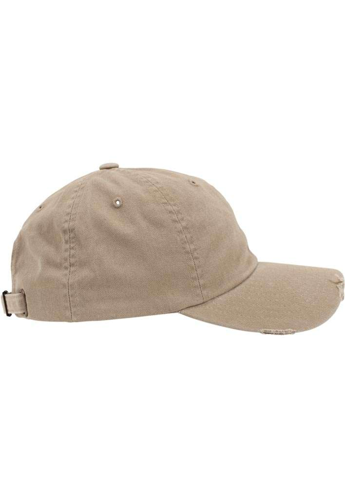 FlexFit Low Profile Destroyed Khaki Cap 6 panneaux, ajustable Seitenansicht rechts