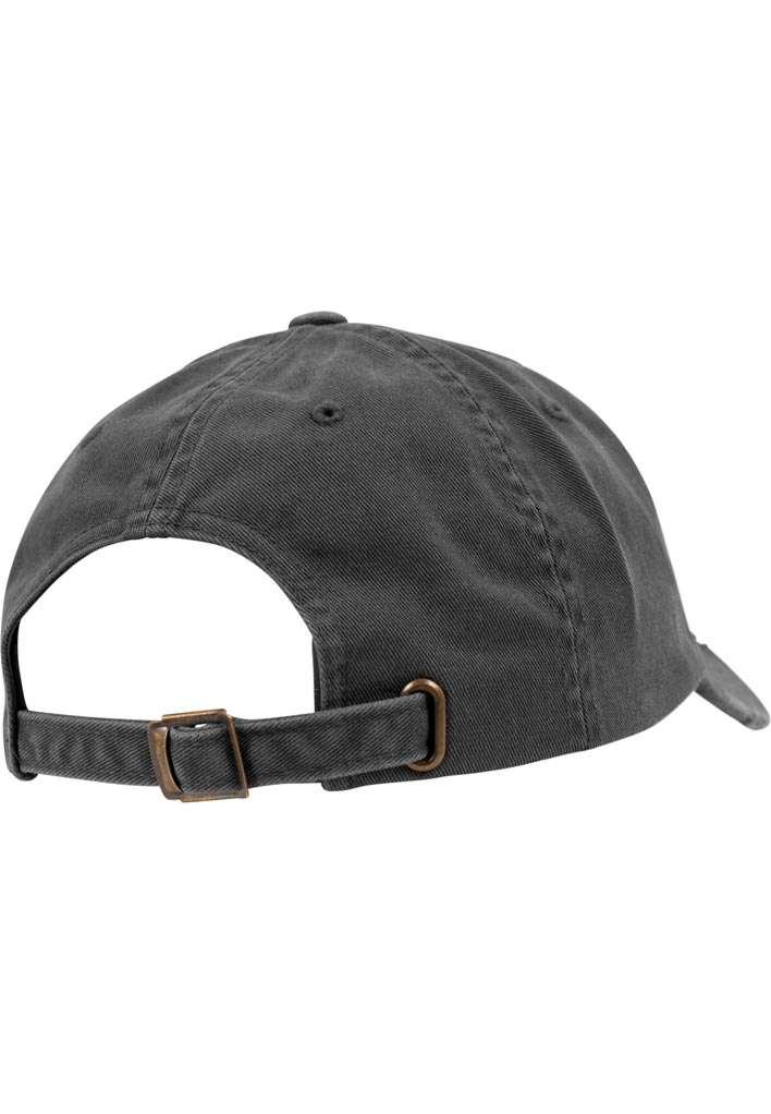 FlexFit Low Profile Destroyed Dunkelgrau Cap 6 panneaux, ajustable Seitenansicht hinten