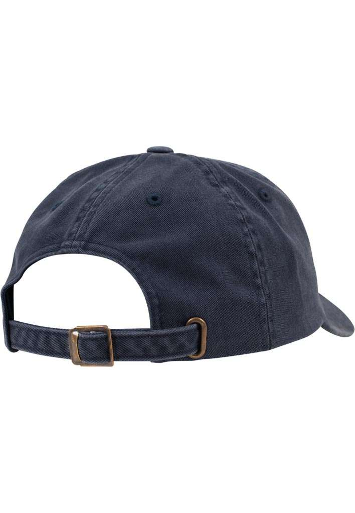 FlexFit Low Profile Destroyed Navy Cap 6 panneaux, ajustable Seitenansicht hinten