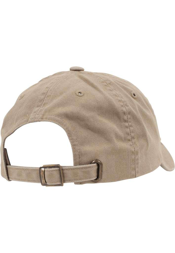 FlexFit Low Profile Destroyed Khaki Cap 6 panneaux, ajustable Seitenansicht hinten