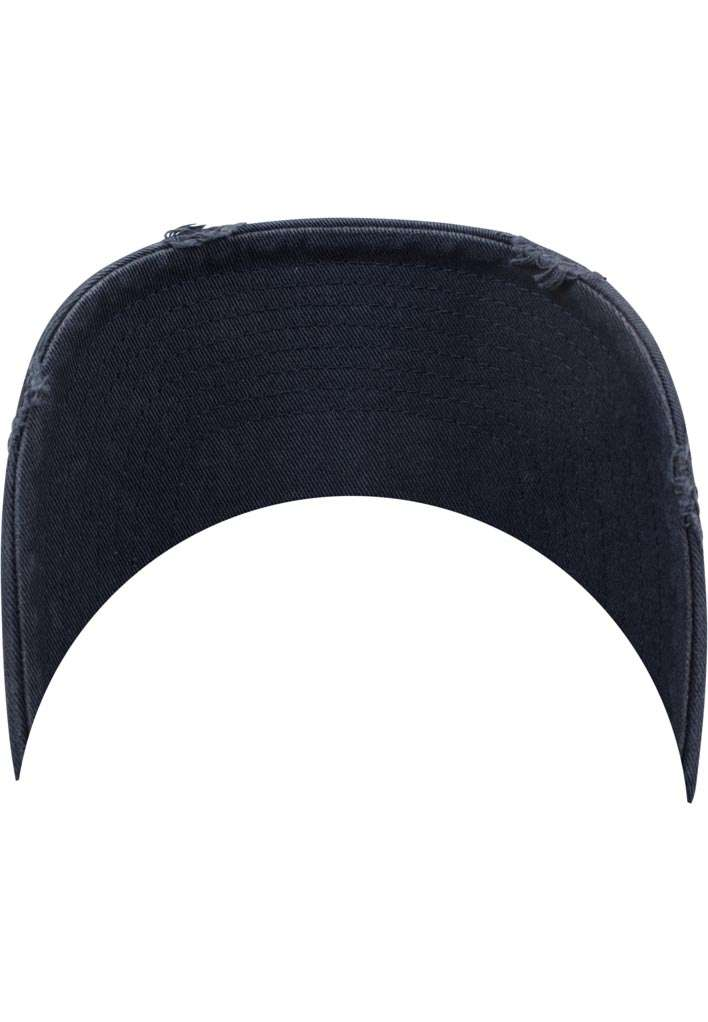 FlexFit Low Profile Destroyed Navy Cap 6 panneaux, ajustable Schild