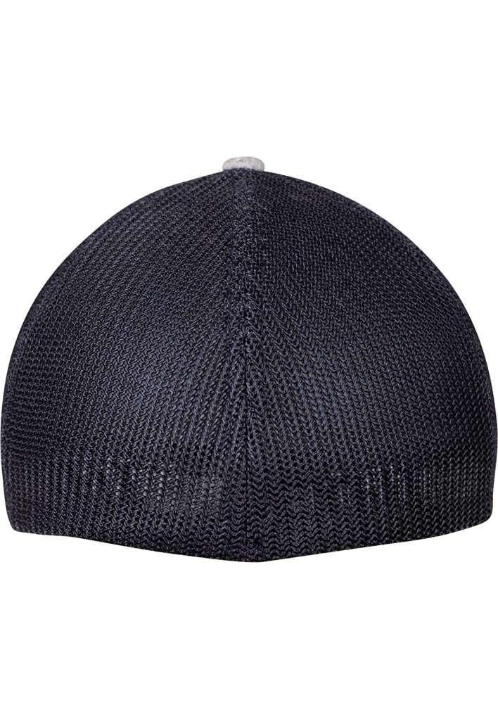 Flexfit Melange Mesh grau/dunkelblau Ansicht hinten