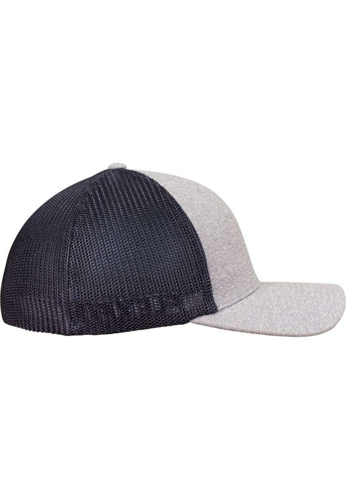 Flexfit Melange Mesh grau/dunkelblau Seitenansicht rechts