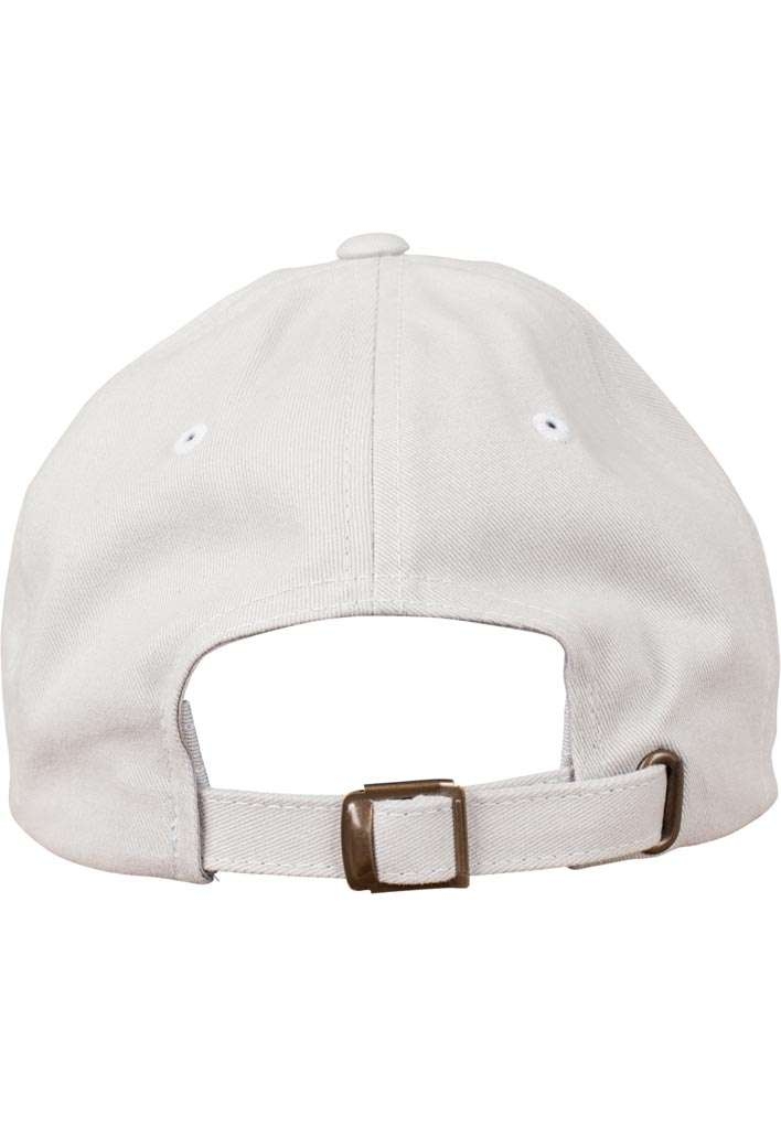 FlexFit Cap Peached Cotton Twill Dad Hellgrau, ajustable Ansicht hinten