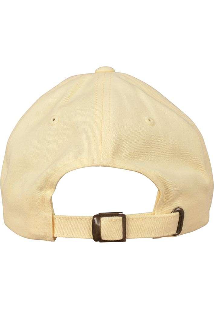FlexFit Cap Peached Cotton Twill Dad Gelb, ajustable Ansicht hinten